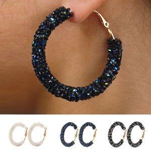 Jewelry - Fashion Sparkle Hoop Earrings